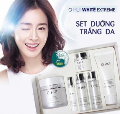Set kem ngăn ngừa lão hóa Ohui Extreme White Cream Snow vitamin