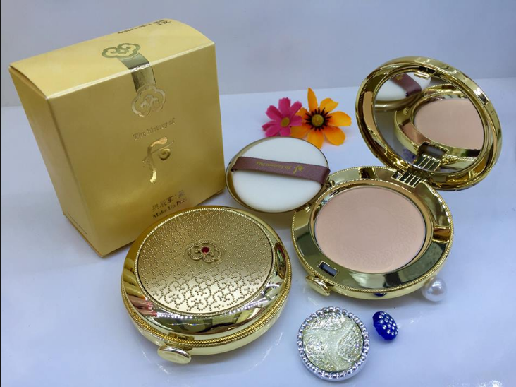 Whoo Mi Makeup Pact - Phấn phủ dạng nén Whoo vàng Hoàng Cung cho da mịn màng