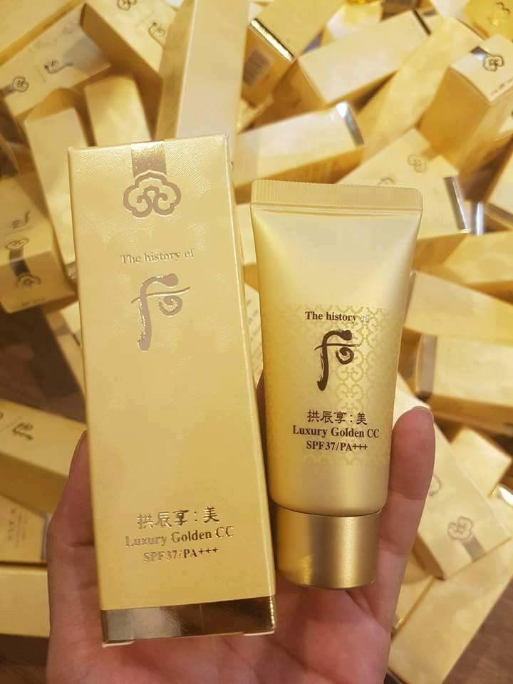 Kem Whoo Mi Luxury Golden CC Hoàng cung cao cấp SPF37/ PA+++