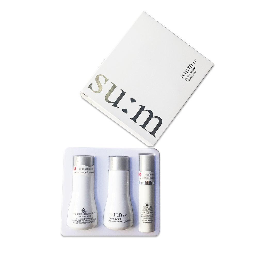 Set Su:m37° -White Award dưỡng trắng da 3 món