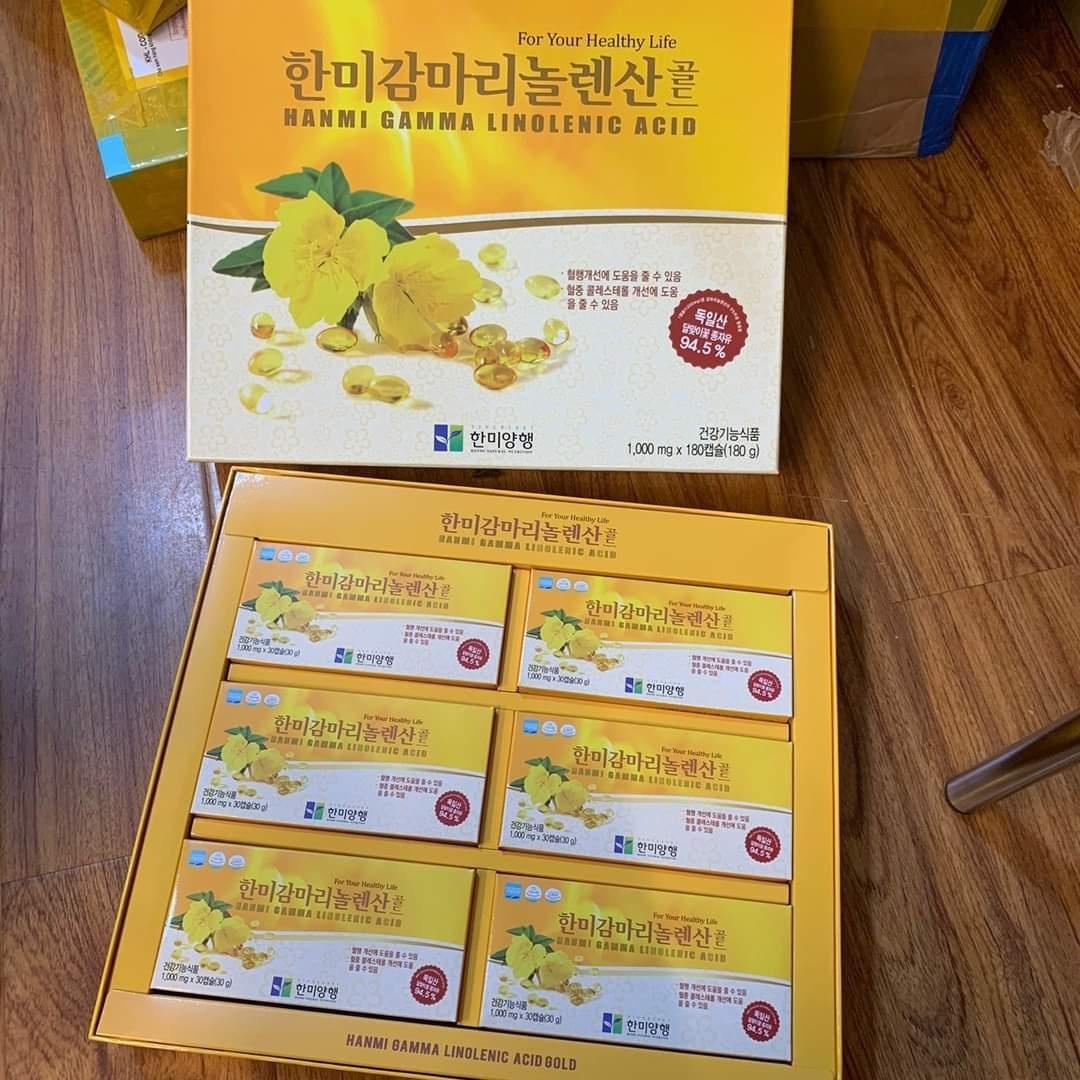 Viên Uống Tinh dầu hoa Anh Thảo Hàn Quốc Hộp 180V